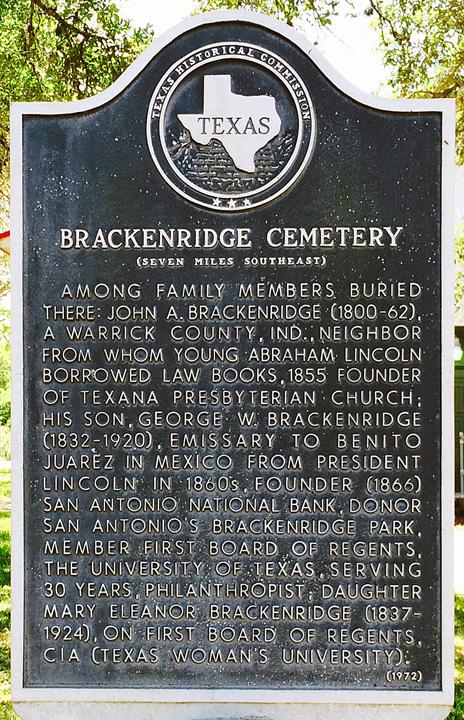Brackenridge Cemetery, Jackson County, Texas